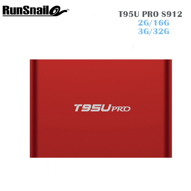 T95U PRO Amlogic S912 Android TV Box Octa core ARM Cortex-A53 3G/32G Android 6.0 TV Box WiFi 2.4G/5.8G H.265 4K Play PK h96pro+ цены онлайн