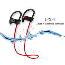 U8 Wireless Bluetooth Earphone,Sport Headphone Noise Reduction Stereo Bass Headset Stereo IPX4 Waterproof with Mic for all phone