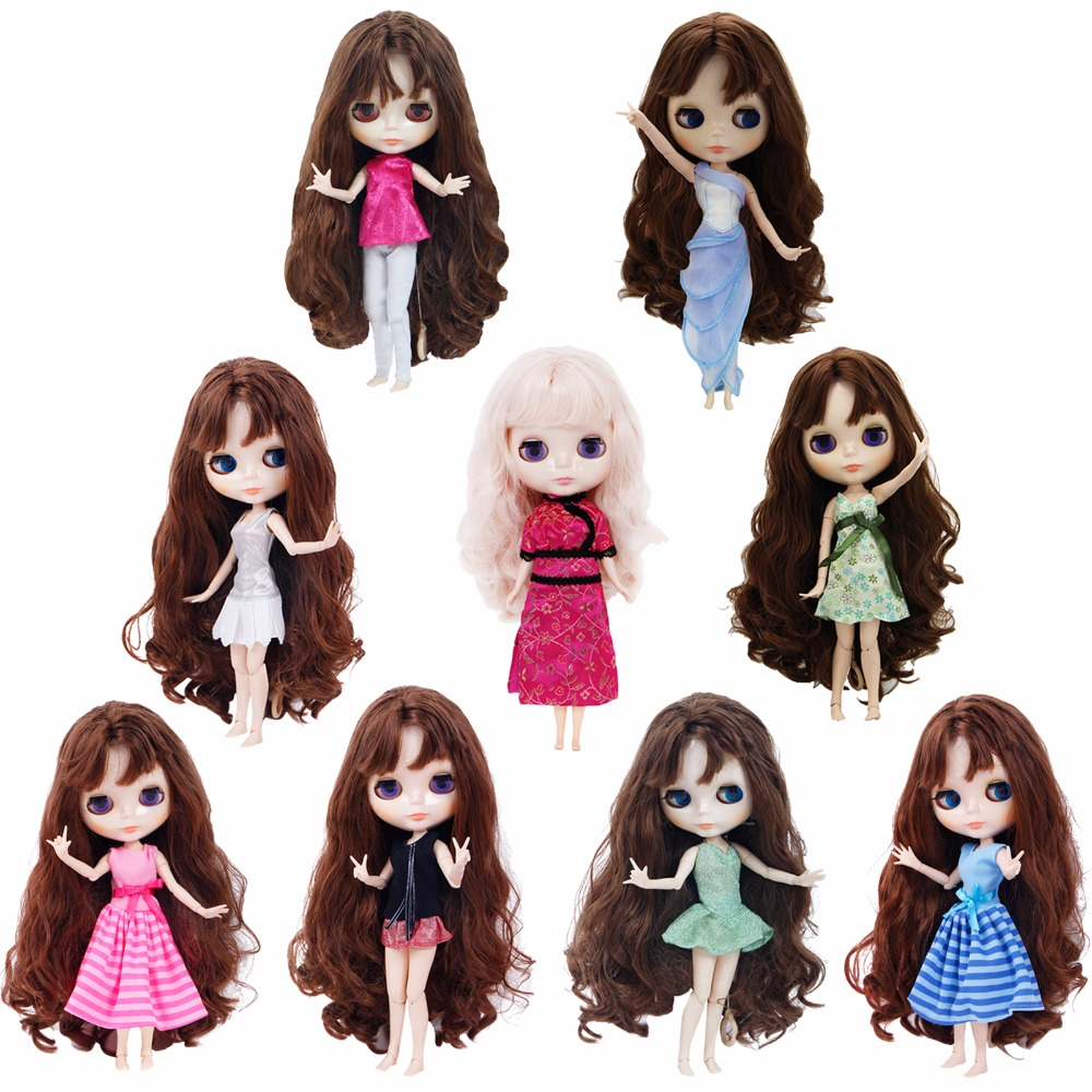 Handmade Fashion Min Dress Mixed Style Dating Party Wear Casual Blouse Pants Skirts Clothes For Blythe Doll Puppet Accessories
