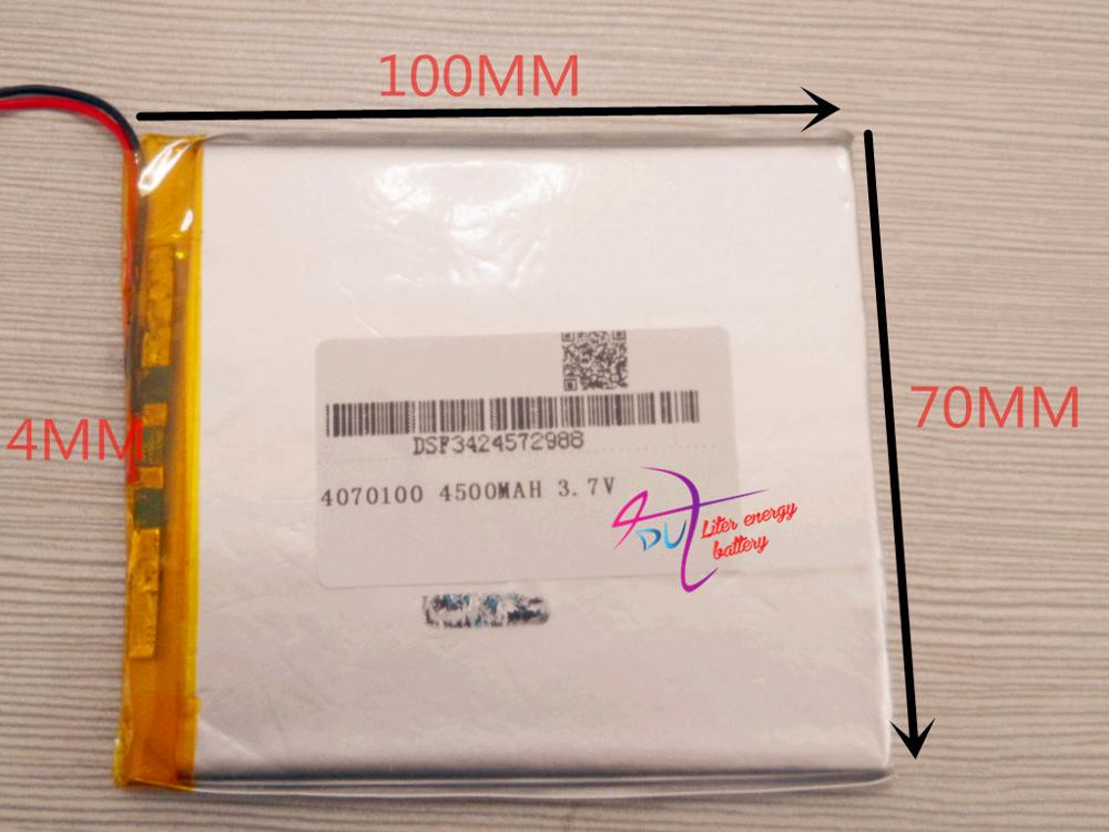 best battery brand 1PCS 3.7V 4500MAH <font><b>4070100</b></font> tablet battery with protection board For MID 7inch Tablet PC image