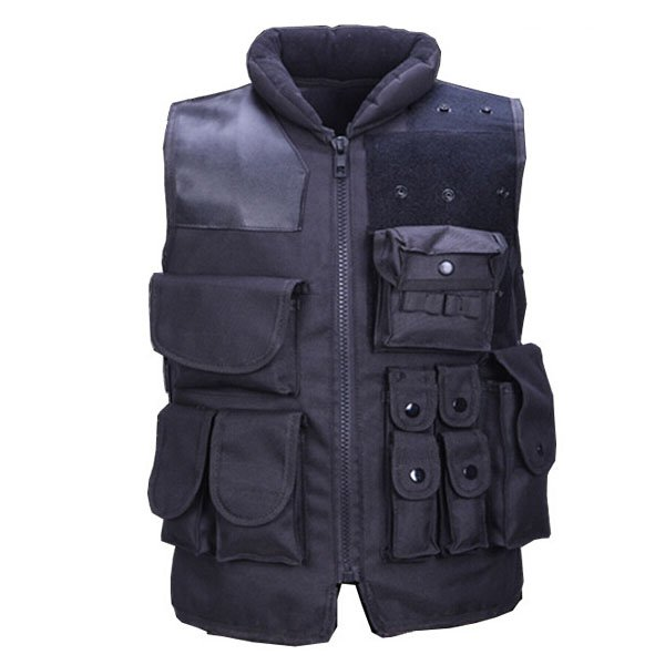 Free shipping black riding security / security bags fishing vest tactical vest CS outdoor field protective equipment airsoft adults cs field game skeleton warrior skull paintball mask