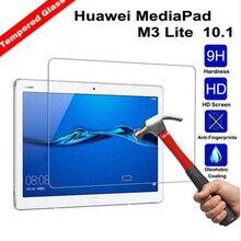 9 H закаленное Стекло Экран протектор Плёнки для Huawei MediaPad M3 Lite 10 10.1 дюймов bah-w09 bah-al00+ спирта ткань