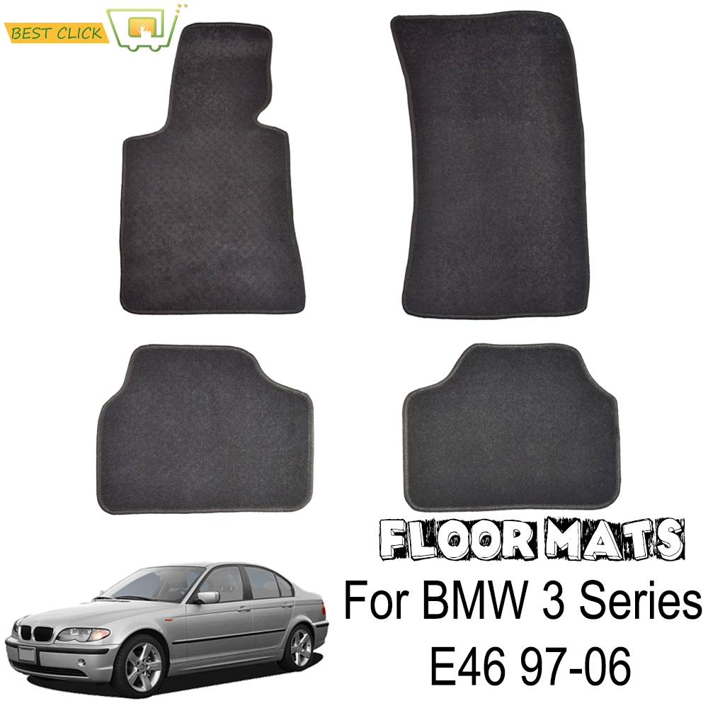 Custom Floor Mat Mats For BMW 3 Series E46 1998 2006 Carpet Rug Nylon Liner Front