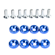 JDM Nuts Bolts Auto Repacking Front Rear Bumper Water Tank Car Decoration Frame Washer Screw Bonnet Aluminum Gasket CY221-CN