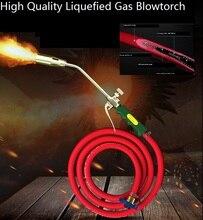 Blowtorch Chwastów Palnika Profesjonalne Skroplony Gaz Torch Hartowania Lutowania Spawania Dachowe Unhairing 30mm Dysza Ogrzewanie w Wyzwalania