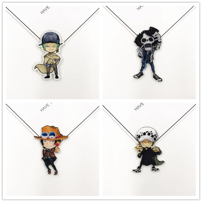 Cartoon Anime ONE PIECE Badges Icons On Backpacks Acrylic Badge Kawaii Pins For Women Clothes Accessories Decoration