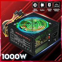 1000W 110~220V Power Supply PSU PFC 12cm LED Silent Fan ATX 24pin 12V PC Computer SATA Gaming Supply For Intel AMD Desktop