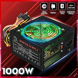 1000W 110 ~ 220V zasilacz PSU PFC 12cm LED cichy wentylator ATX 24pin 12V komputer stancjonarny SATA do gier dla Intel AMD Desktop|Zasilacze PC|   -