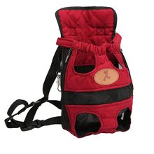 Dog Fashion Red Color Travel Breathable Backpack Shoulder Bags Pet Puppy Carrier