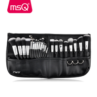 MSQ 29pcs Professional Makeup Brush Set Cosmetic Brushes Set With Waist PU leather Pocket Fashion Makeup For Beauty