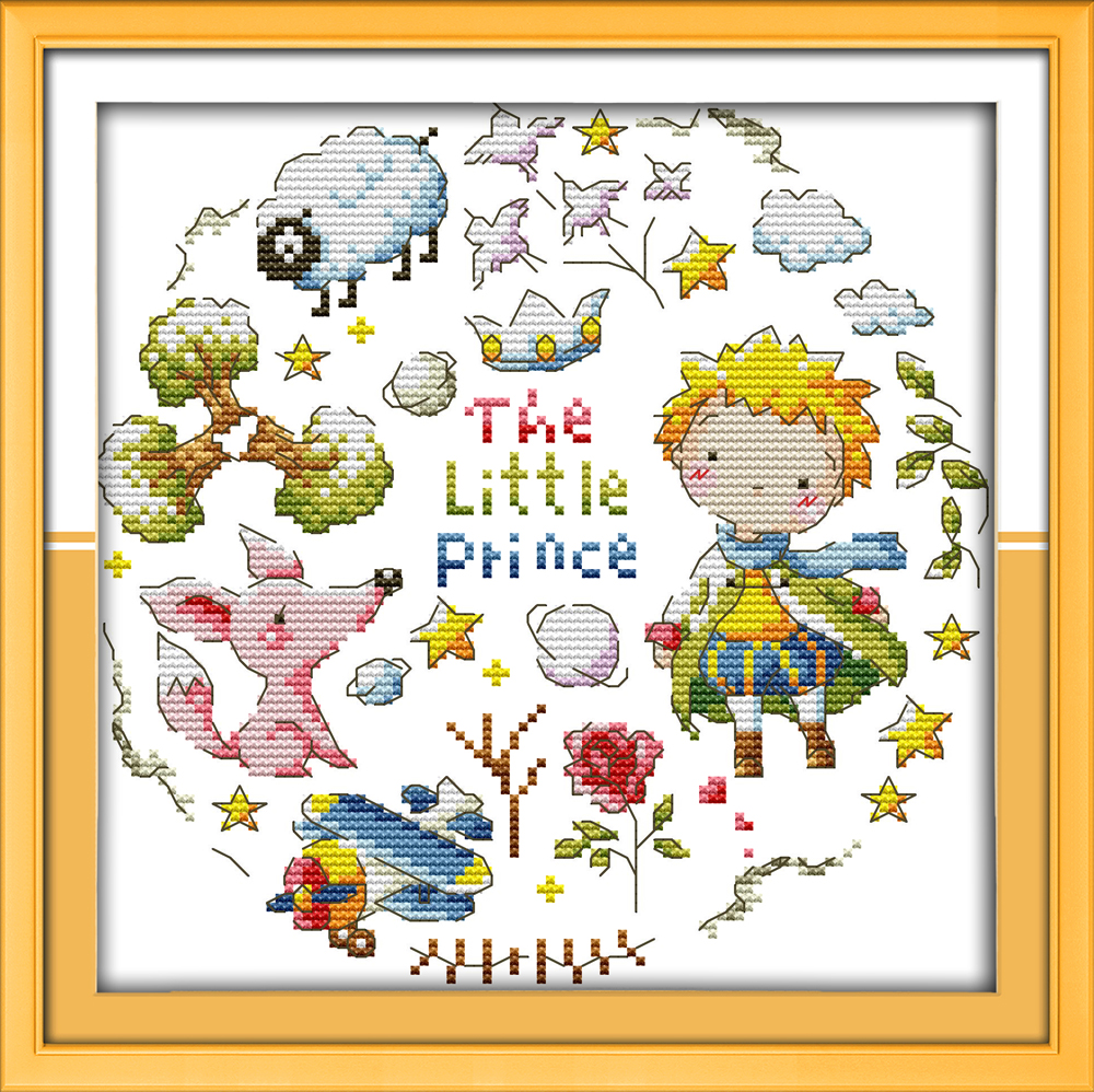 Everlasting love Christmas The little prince Ecological cotton Chinese cross stitch kits counted stamped store sales promotion