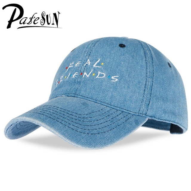 Patesun verdadero amigo bordado gorras de béisbol de las mujeres sombrero  de verano para los hombres 20d27431ee0