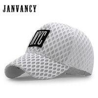 Janvancy Summer Baseball Caps Men Women Breathable Bone Snapback Fashion Mesh Baseball Hats Rhombic Hole