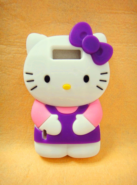 Hot!!! 3D hello kitty Silicone Back Cover Case for LG P705 Optimus L7  High Quality Cell Phone Case