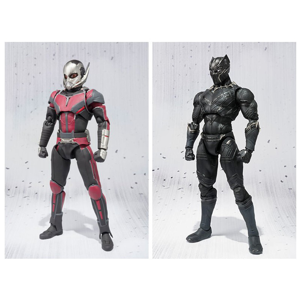 Avengers Ant-Man Black Panther movable 17cm Action Figure Toys Doll Collection Christmas Gift With Box new hot 15cm iron man avengers tony stark spider man homecoming action figure toys spiderman christmas gift doll with box