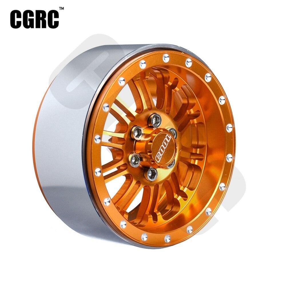 4pcs CNC Alloy 2.2inch Wheel Hub Rim Beadlock For 1/10 RC Crawler Car TRX4 RC4WD D90 D110 Axial Scx10 90046 CCO1 VS4-10(China)
