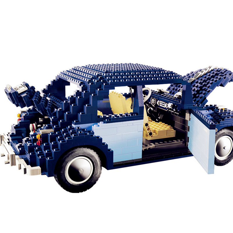 1707Pcs Classic Beetle Model Car Building Kits Blocks Bricks Set Toys For Children Christmas Gifts LegoINGlys Technic 10187 1707pcs new lepin 21014 classic beetle model car building kits blocks bricks for children christmas gifts legoinglys 10187