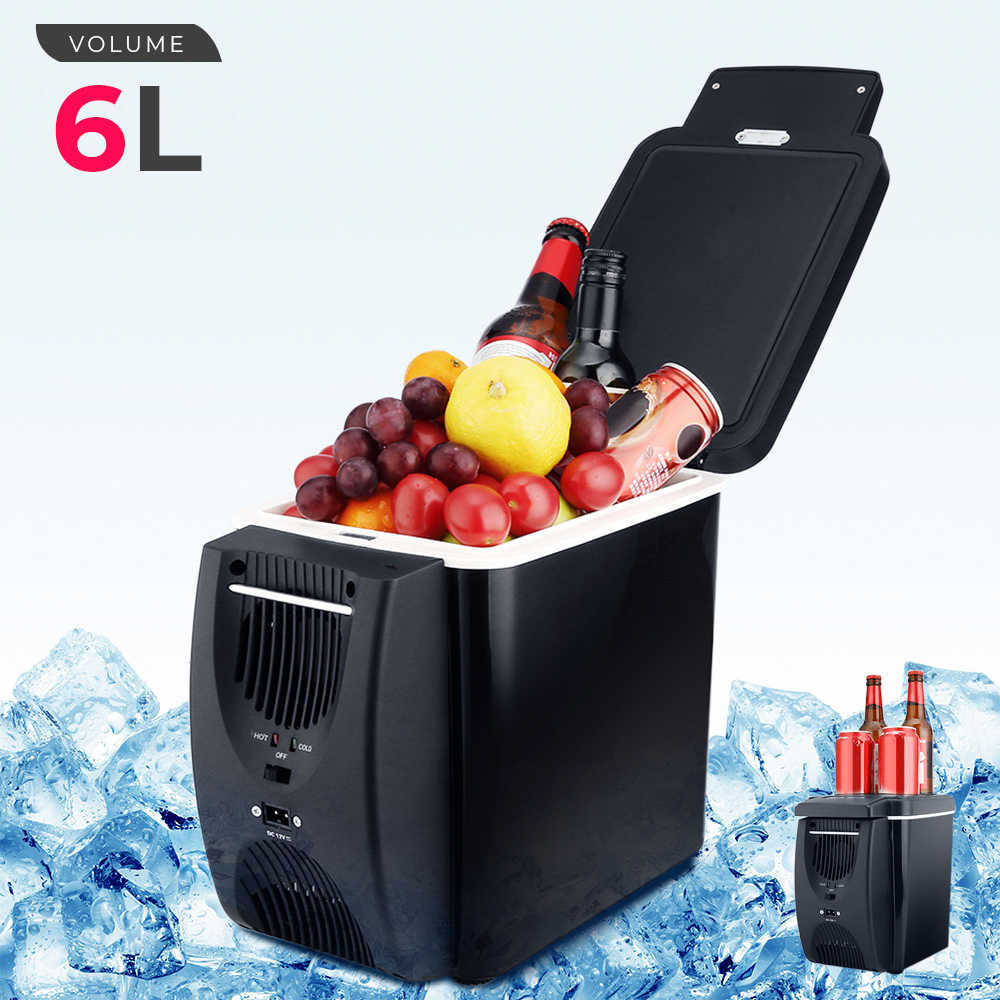 12V 45W 6L Mini Fridge 2 In 1 Free-standing Less Noise Car Refrigerator Warmer Portable Geladeira for Cars Coche Home Camping