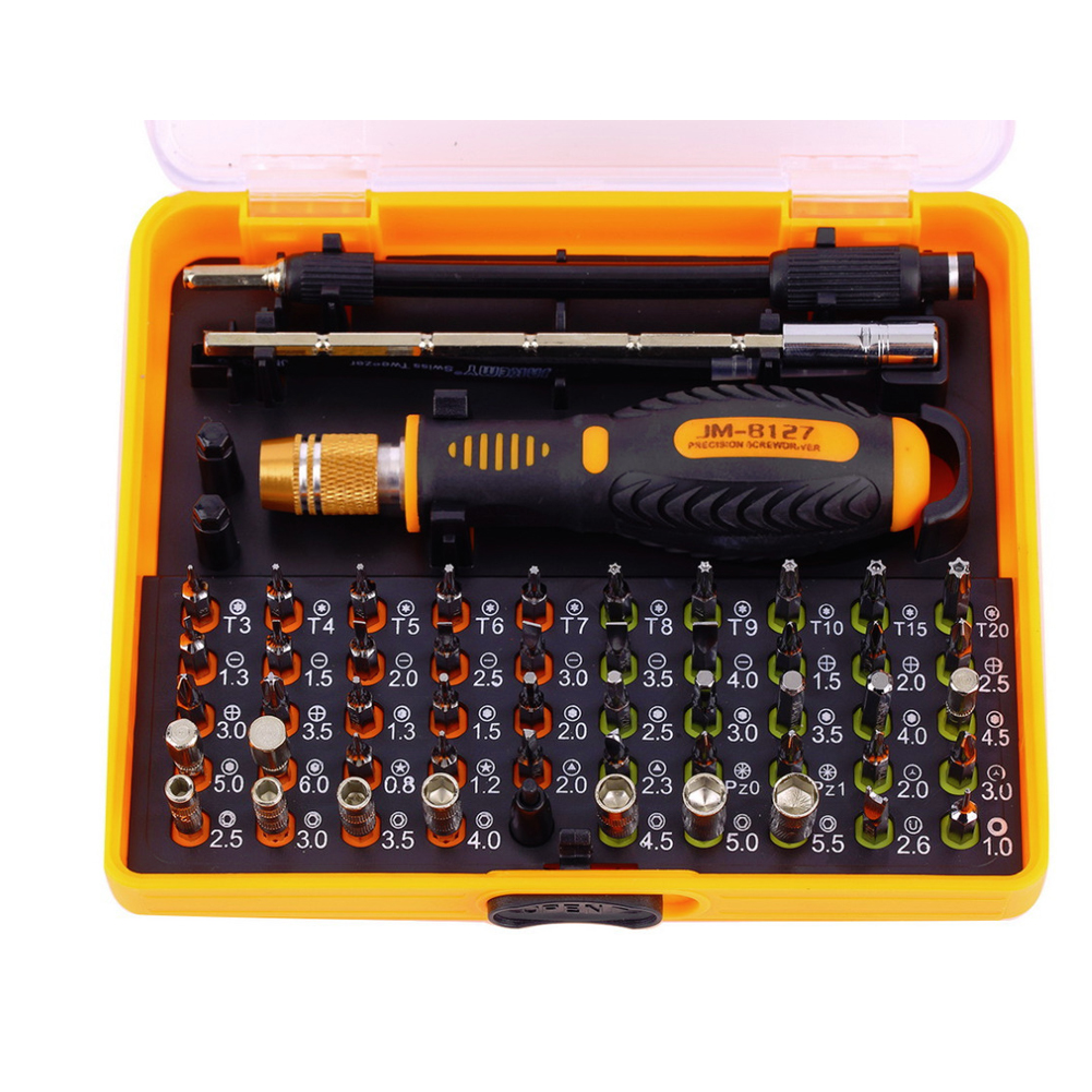 Top Quality 53 in 1 Multi-purpose Precision Magnetic Screwdriver Set with Trox Hex Cross Flat Y Star Screw Driver Chrome casio lq 400d 1a