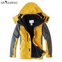 2016 New Arrival Winter Jacket Men Liner Detachable Coat Parka With Hood Waterproof Mens Jackets Jaqueta AQ40019