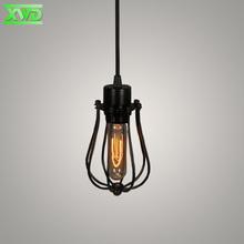 Single Head Iron Painted Vintage Foyer Indoor Pendant Lamp E27 Lamp 110-240V Parlor/Dining Room/Coffee House Lighting DR77