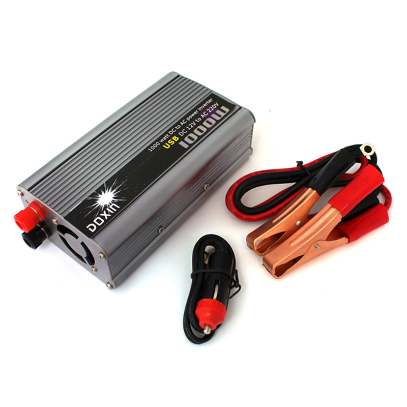 1000W Vehicle Inverter 12V DC To 220V AC USB Power Converter Power Supply Household Power Adapter 1000w car 12v dc to 220v ac power inverter with usb power port