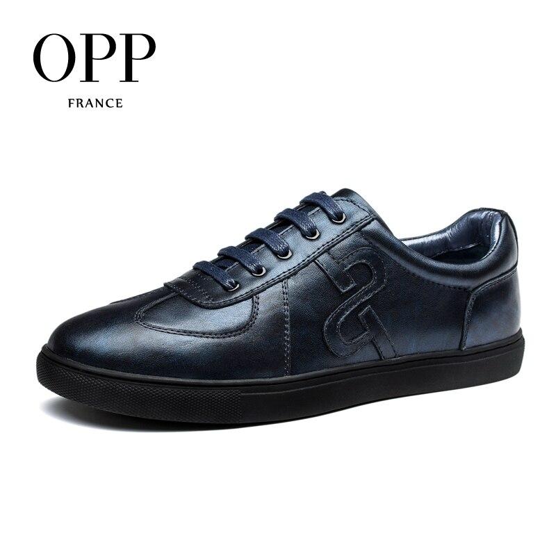 OPP Genuine Leather Men Shoes Casual Shoes For Men Cow Leather moccasins hombre  Fashion Men Loafers for Men Flats dxkzmcm new men flats cow genuine leather slip on casual shoes men loafers moccasins sapatos men oxfords