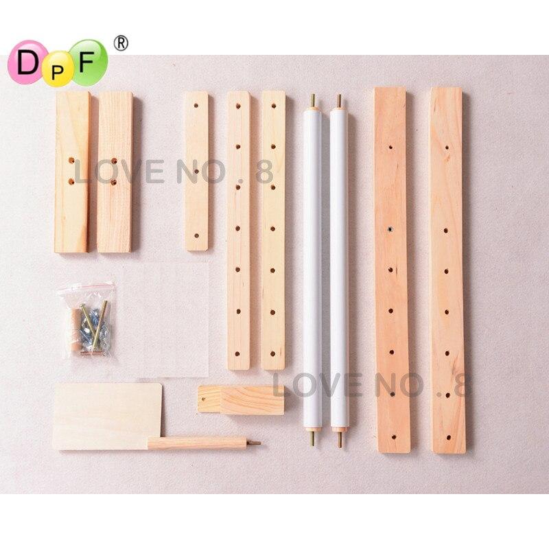 Madera maciza ajustable estante, soporte de madera Cruz escritorio ...