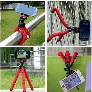 Image 3 - COOLJIER, Mini trípode de esponja Flexible con pulpo, con Bluetooth, obturador remoto para iPhone, mini cámara, trípode, soporte para teléfono, soporte de clip
