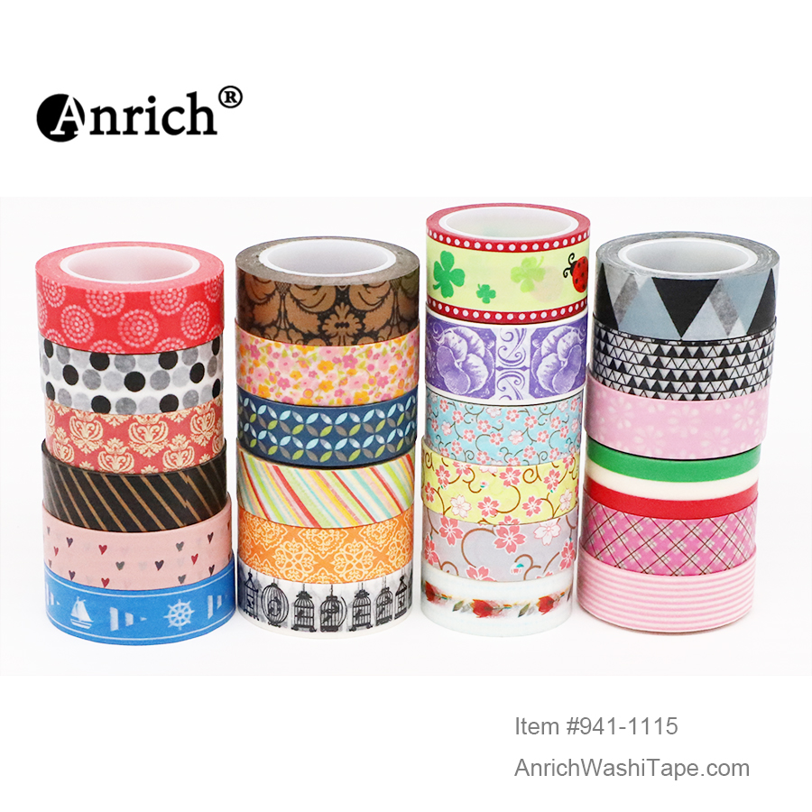 Free Shipping And Coupon Washi Tape,Anrich Washi Tape #892-#1127,basic Design,colorful,customizable