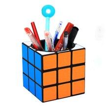 3x3x3 Pen Holder Magic cubes Piggy bank Cube Plastic Desk Toy Speed Toys for children Adult