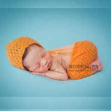 Onesie Hand Knitted Hooded Romper Newborn Baby Photography
