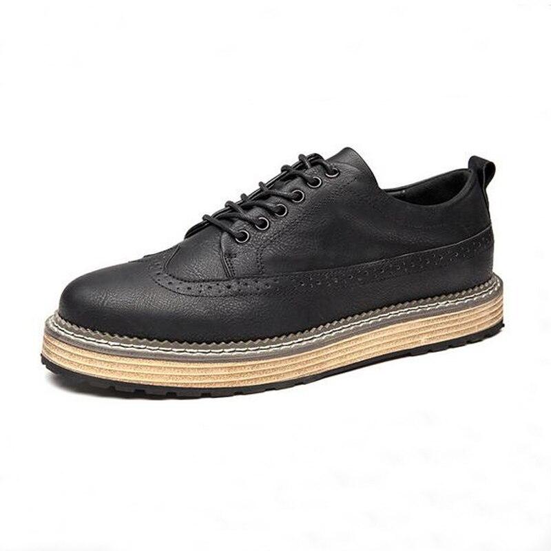 f51f4c673 Plus Size 45 Homens Brogue Sapatos New Dividir Couro Sapatos Casuais  Respirável Dos Homens Masculinos Do Vintage Apartamentos Cinza Preto Marrom