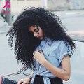 Клип в Человеческих Волос Афро-Американской Странный 3B 3C Curly Clip в Наращивание Волос 7А Бразильского Виргинские Волос Ins