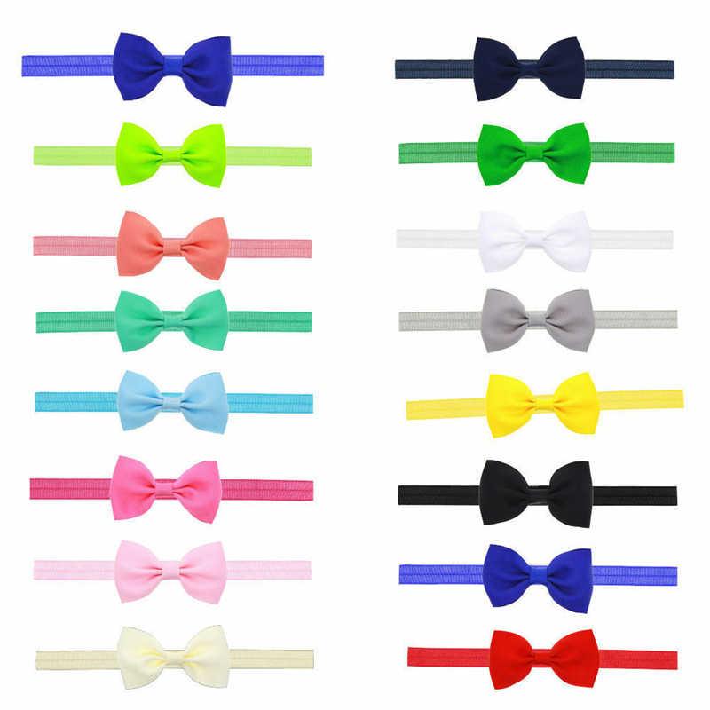 16 色をご用意ベビーヘッドバンドの弓子供の女の子の新生児弾性ベビーサンダル 2019 新