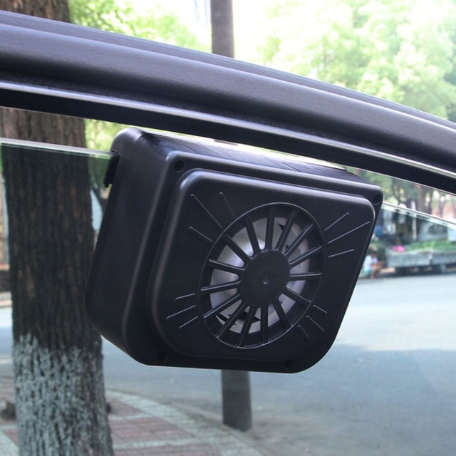 Upgrade ABS Auto Fan Solar Power Car Window Fan Cool Solar Exhaust Fan with Rubber Stripping Car Accessories
