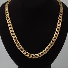 Мужская длинная цепочка ожерелье в стиле хип хоп МАЙАМИ золотого