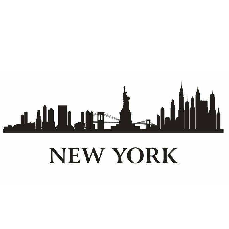 new york wall decor stickers decorating ideas new york skyline wall sticker jaklot