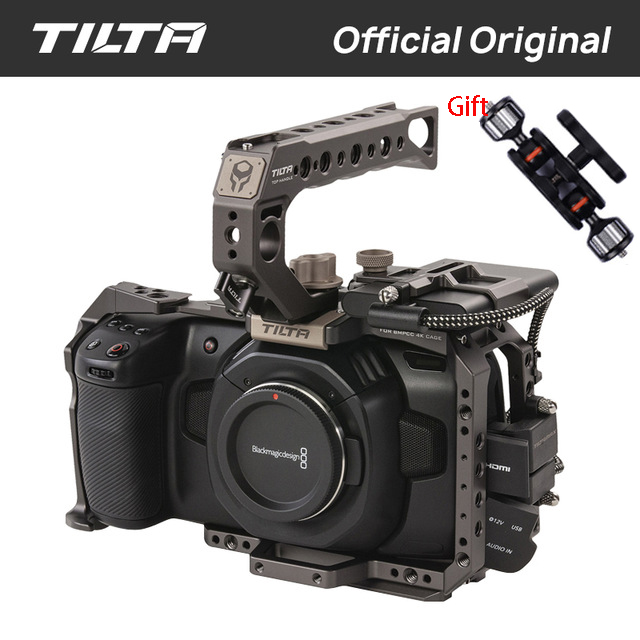 Tilta BMPCC 4K Cage TA T01 B G SSD Drive Holder Full Camera Cage Top Handle