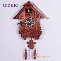 Small cuckoo clock wooden wall clock alarm clock sculpture fashion cd7124
