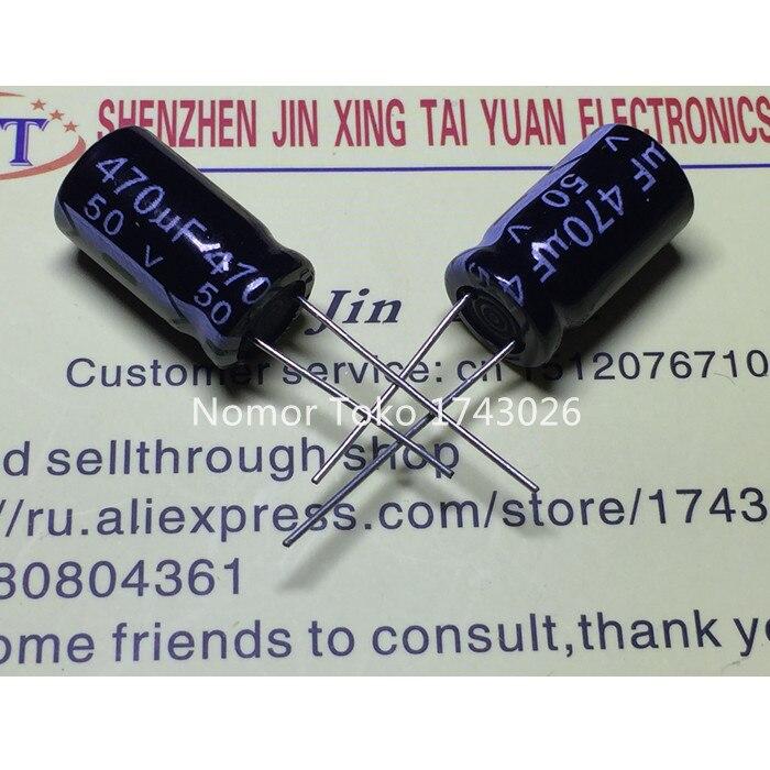 aluminum electrolytic High quality 20 pcs/lot 50V 470UF 10mmX17mm 470UF 50V Aluminum electrolytic capacitor ic ... (1)