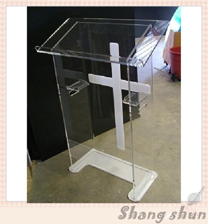 Acrylic Podium Acrylic Podium Stand Acrylic Lectern, Perspex Podium Plexiglass Church Pulpit цена