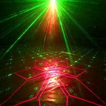 YSH צליל מסיבת אור 120 דפוסים DJ מנורת אפקט Strobe בר לייזר מקרן קול Actived דיסקו אורות במה עבור חדר בית