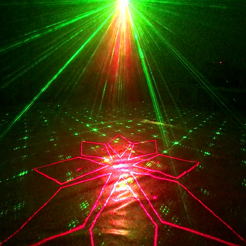 YSH 120 Patterns Dj Lights Effect Equipment Strobe Bar Laser Projector Sound Actived Disco Light Stage For Parties Room Home