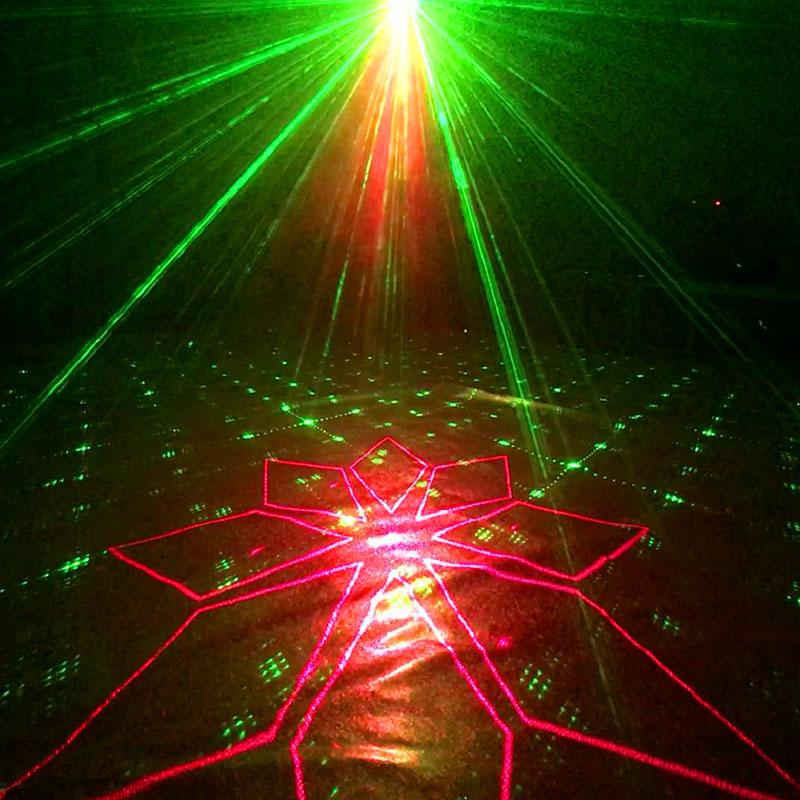 YSH 120 modèles dj lumières effet équipement stroboscope barre Laser projecteur son activé Disco lumière scène pour les fêtes chambre maison