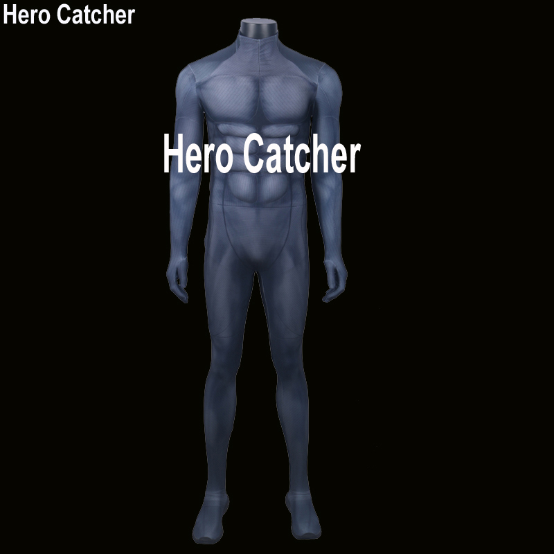 Hero Catcher High Quality Comic Muscle Batman Costume Chest Belly Muscle Super Hero Batman Spandex Lycra