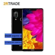 Smartphone Original Global SHARP S3 SHARP AQUOS S3 4 GB + 64 GB 6.0 »FHD + Snapdragon630 Octa Core Android 8.0