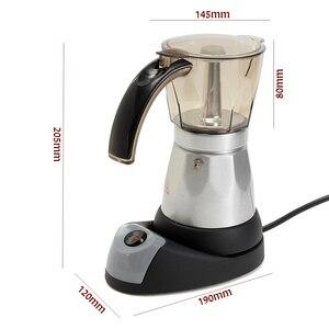 Image 2 - Кухонная мини Кофеварка электрическая автоматическая кофемашина кофейник 6 чашек эспрессо Перколятор мокко чайник бытовой
