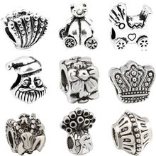 Btuamb Punk Silver Color Snake Duck Purse Flower Starfish Charms Beads Fit Pandora Bracelets & Bangles For Women Making Jewelry(China)