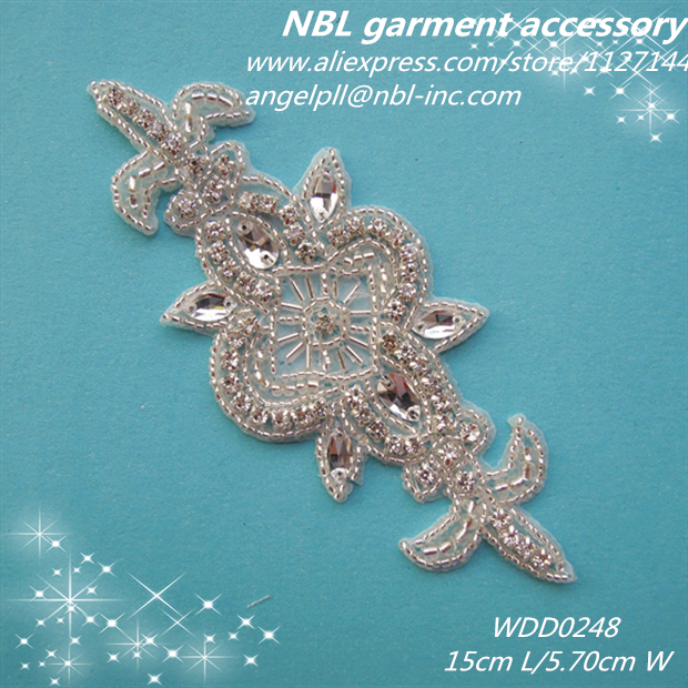 30 PIECES Bridal beaded applique patch for wedding dress WDD0248